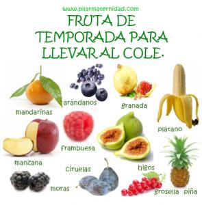 Cartel Fruta de Temporada para el cole