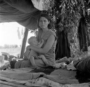 Dorothea_Lange,_Drought_refugees_from_Oklahoma_camping_by_the_roadside,_Blythe,_California,_1936